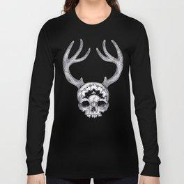 Mandala Skull With Gorgeous Antlers Long Sleeve T-shirt