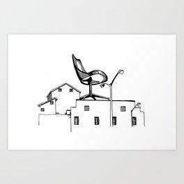 Chair on Factory Art Print