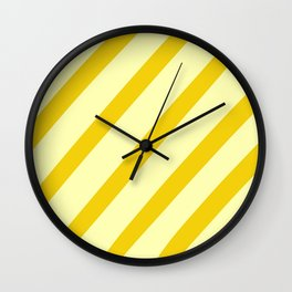 Sunny Stripes Wall Clock