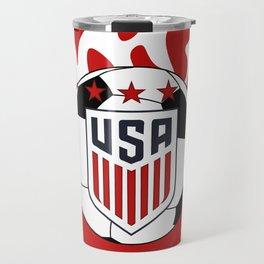 United States Soccer Travel Mug