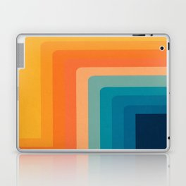 Retro 70s Color Lines Laptop & iPad Skin