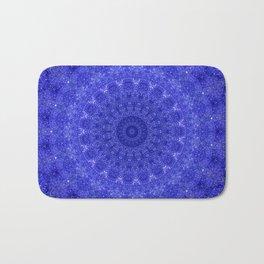 Cosmos Mandala II Cobalt Blue Bath Mat