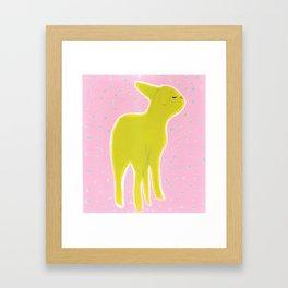 Little Lamb Standing Framed Art Print