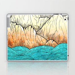 As the sea hits the mountains Laptop & iPad Skin