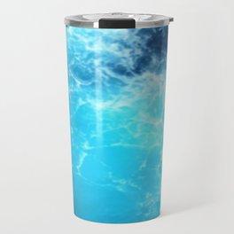 Ocean Blue Waves Travel Mug
