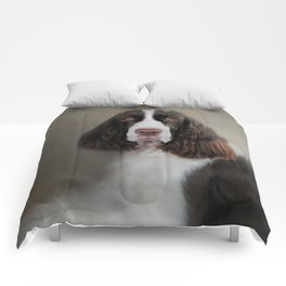 Waiting Patiently - English Springer Spaniel Comforters