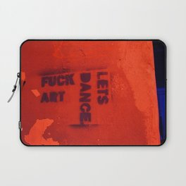 Photograph of graffiti at a squatters' house in Zagreb, Croatia Laptop Sleeve