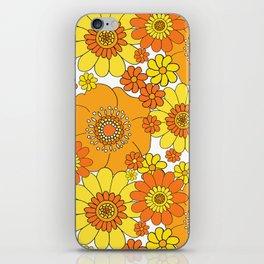 Pushing daisies orange and yellow iPhone Skin