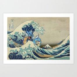 The Great Wave Off Gyarados Art Print