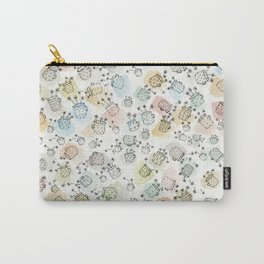 Vintage polka dot cups and flowers Carry-All Pouch