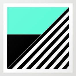 Asymmetrical patchwork 2 Art Print