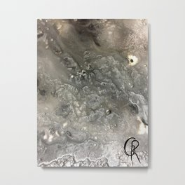 Winter Abstract Painting, Mixed Media On Canvas, Original Painting And Photo, Contemporary Artist Metal Print