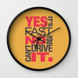 Yes it's fast No you can't drive it v1 HQvector Wall Clock
