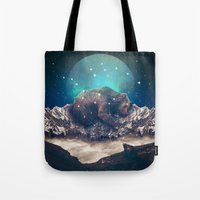 jazzberry Tote Bags featuring Under the Stars (Ursa Major) by soaring anchor designs