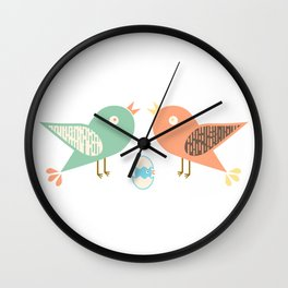Birds and egg Wall Clock