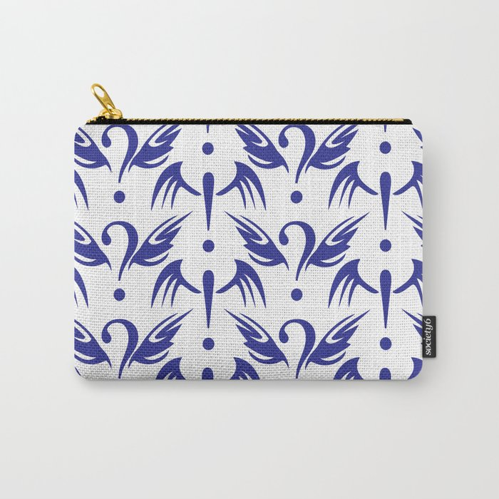 Questionable Pattern Carry-All Pouch
