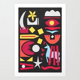 The Blue Unicorn Art Print