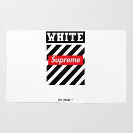 supreme white Rug