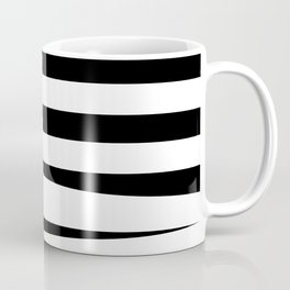 Green Black White Stripes #abstractart #stripes #design Coffee Mug