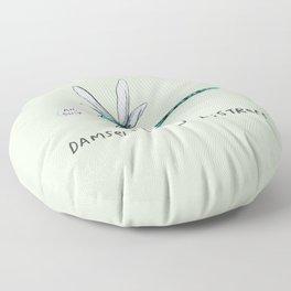 Damselfly in Distress Floor Pillow