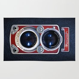 Vintage RED double lens camera iPhone 4 5 6 7 8 x, pillow case, mugs and tshirt Rug