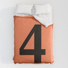 4 (BLACK & CORAL NUMBERS) Comforters