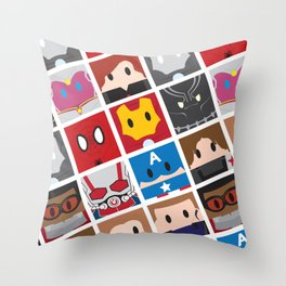 Civil War Blocks Throw Pillow