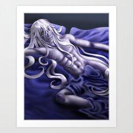 Undertaker in Blue Art Print