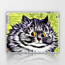 "Louis Wain's Cats ""Kitty On Coffee Break"" Laptop & iPad Skin"