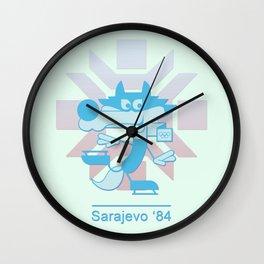 Vucko - 1984 Winter Olympics (blue) Wall Clock