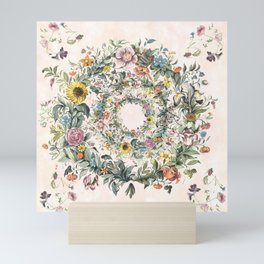 Circle of life- floral Mini Art Print