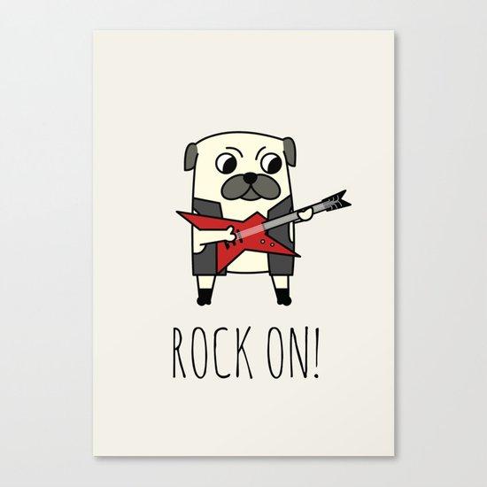 Rockstar Pug Canvas Print