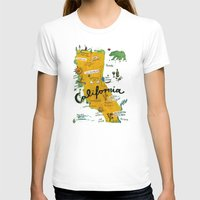 postcard T-shirts featuring Postcard from California by Christiane Engel