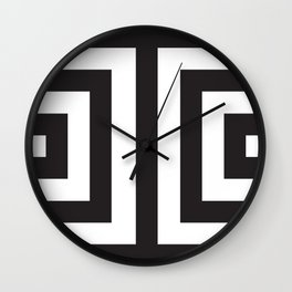 Black Greek Stripes Wall Clock