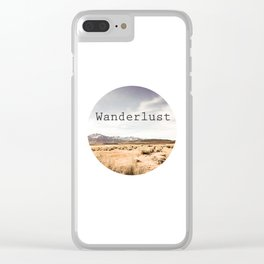 Californian Wanderlust Clear iPhone Case