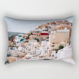 The Hills Have Windows   Santorini, Greece Rectangular Pillow