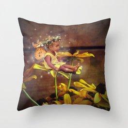 Baby Fairy Throw Pillow