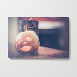 Spooky Apple Metal Print