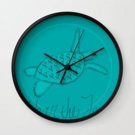 Wear the Teal Ovarian Cancer Awareness Sea Turtle Wall Clock