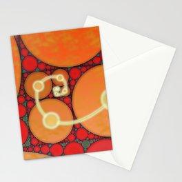 Fibonacci Spiral Fractal Stationery Cards
