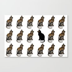 PURRSONAL SPACE CATTERN Canvas Print