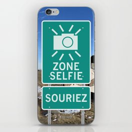 Zone Selfie - Souriez iPhone Skin