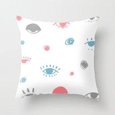 eye pattern Throw Pillow