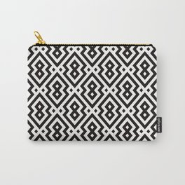 Aztec Black & White Patter Carry-All Pouch