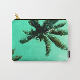 Palm Trees In Lime Green Sunrise Tropical Sky Carry-All Pouch