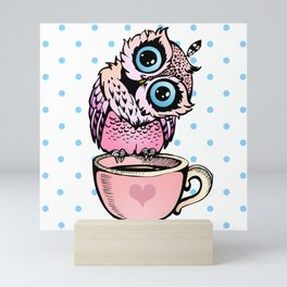 Baby Owl Mini Art Print