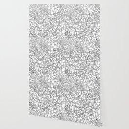 Winter Creeper Line Art Wallpaper