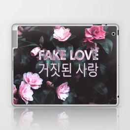 Fake Love Pink Floral Laptop & iPad Skin