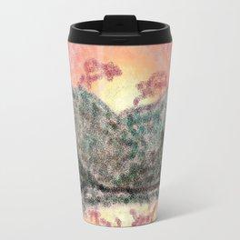 Digital Mountain Sunset Travel Mug