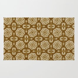 Brown Doily Floral Rug